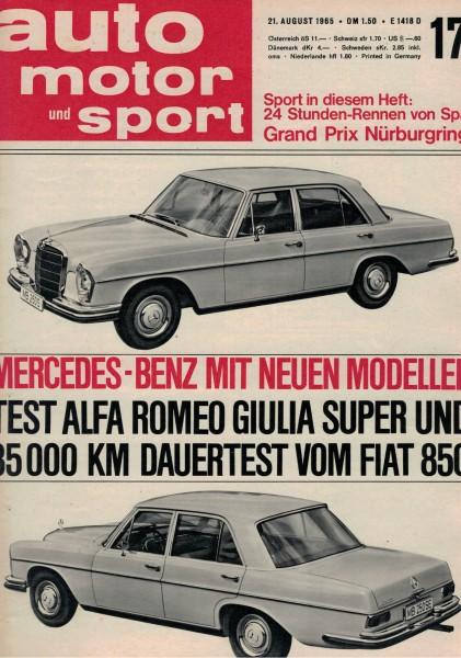 Auto Motor und Sport 1965 Heft 17-21.08.1965