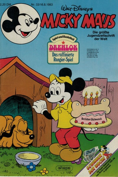 Micky Maus 1983 Nr. 33 / 16.08.1983