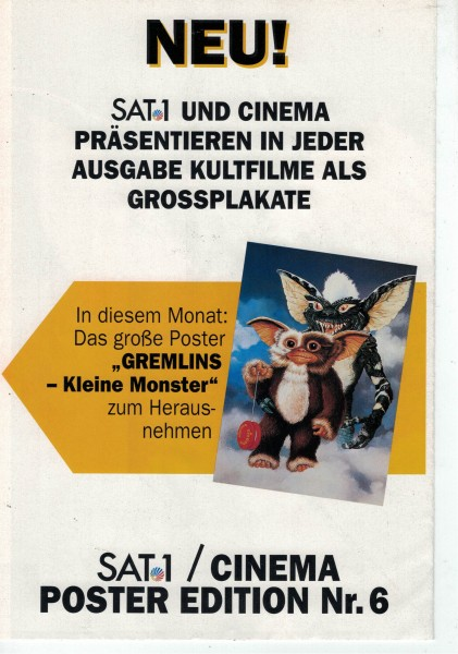 Cinema Poster Edition Nr. 06 - Gremlins