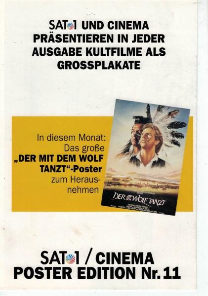 Cinema Poster Edition Nr. 11 - Der mit dem Wolf tanzt