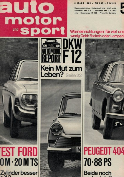 Auto Motor und Sport 1965 Heft 05-06.03.1965