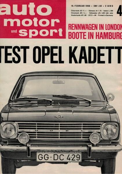 Auto Motor und Sport 1966 Heft 04-19.02.1966