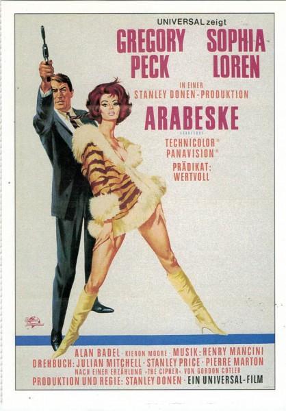 """Cinema Filmkarte """"Arabeske"""""""