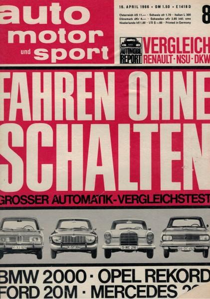 Auto Motor und Sport 1966 Heft 08-16.04.1966