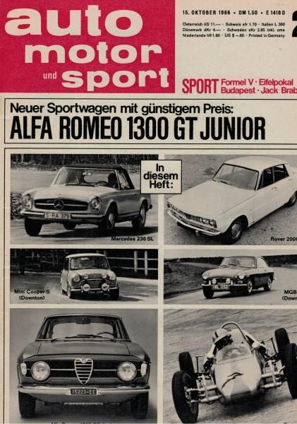 Auto Motor und Sport 1966 Heft 21-15.10.1966