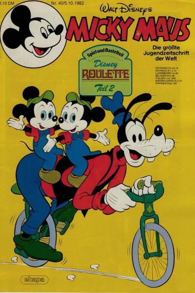 Micky Maus 1982 Nr. 40 / 05.10.1982