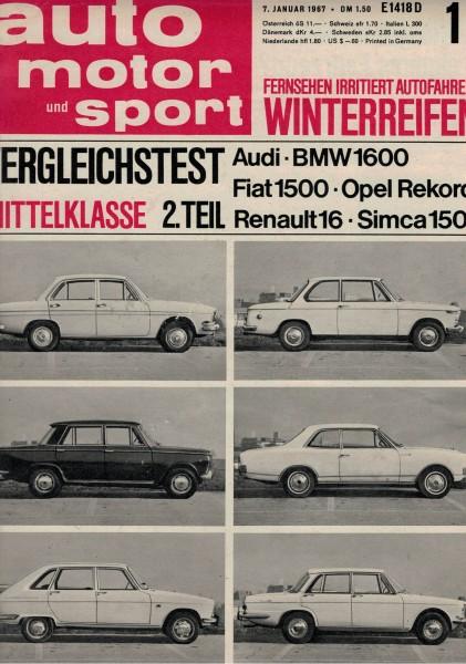 Auto Motor und Sport 1967 Heft 01-07.01.1967
