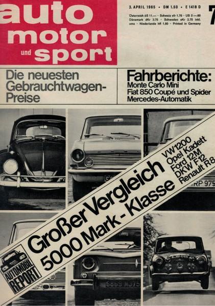 Auto Motor und Sport 1965 Heft 07-03.04.1965
