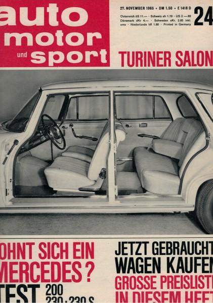 Auto Motor und Sport 1965 Heft 24-27.11.1965