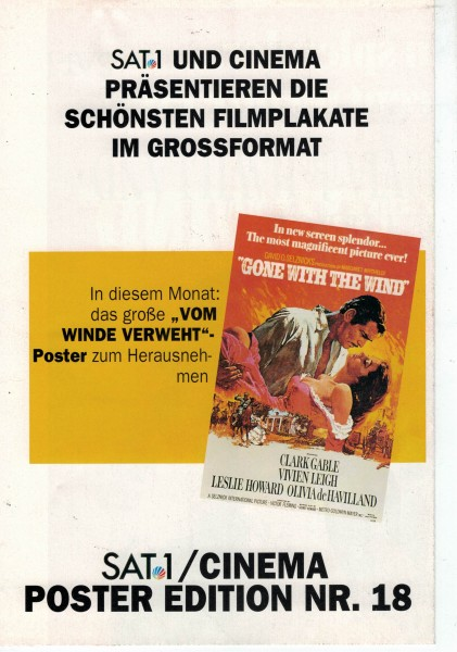 Cinema Poster Edition Nr. 18 - Vom Winde verweht