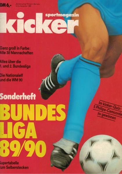 Kicker Sonderheft Bundesliga 1989/90