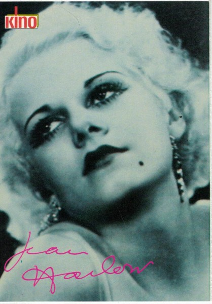 Kino-Autogrammkarte - Jean Harlow