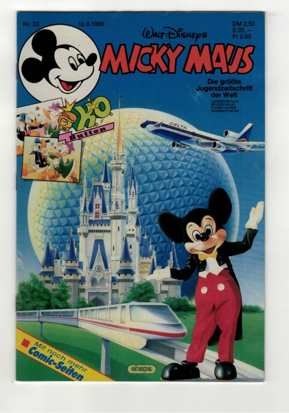 Micky Maus 1988 Nr. 33 / 10.08.1988