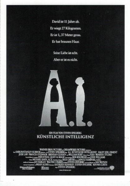 """Cinema Filmkarte """"A.I. - Künstliche Intelligenz"""""""