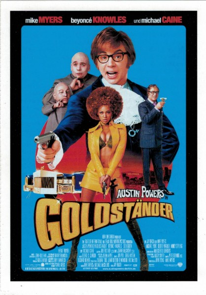 "Cinema Filmkarte ""Austin Powers in Goldständer"""