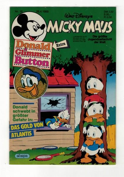Micky Maus 1986 Nr. 18 / 26.04.1986
