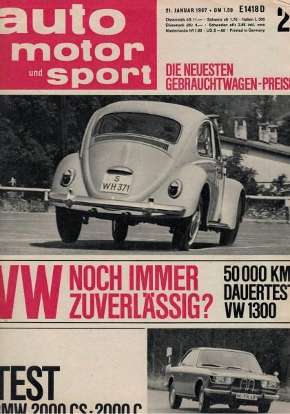 Auto Motor und Sport 1967 Heft 02-21.01.1967