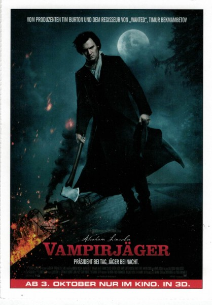 "Cinema Filmkarte ""Abraham Lincoln Vampirjäger"""