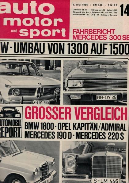 Auto Motor und Sport 1966 Heft 14-09.07.1966