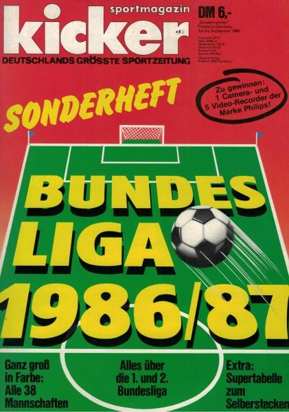Kicker Sonderheft Bundesliga 1986/87