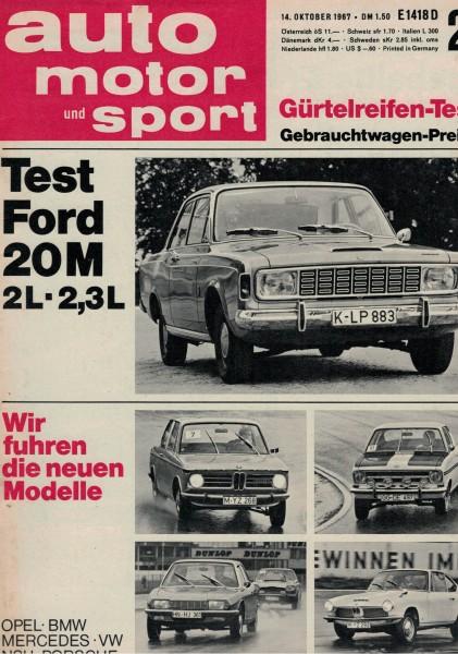 Auto Motor und Sport 1967 Heft 21-14.10.1967