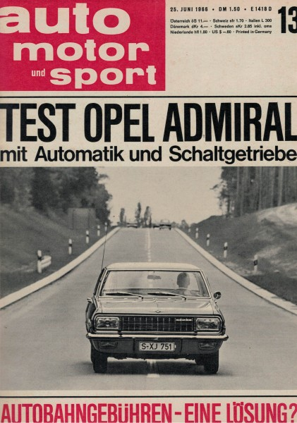 Auto Motor und Sport 1966 Heft 13-25.06.1966