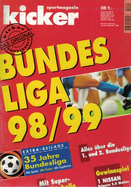 Kicker Sonderheft Bundesliga 1998/99