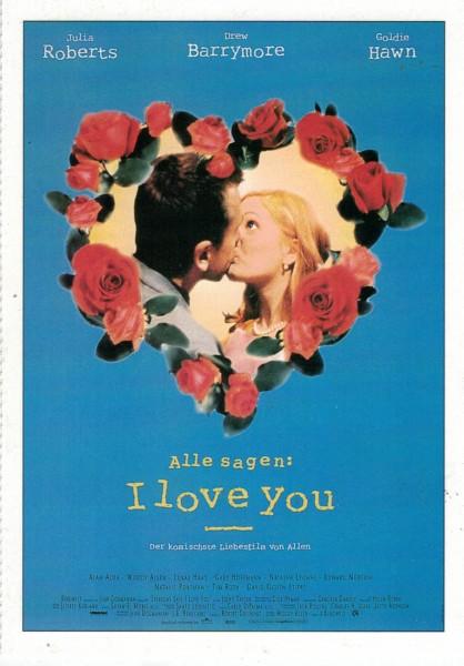 "Cinema Filmkarte ""Alle sagen I Love You"""