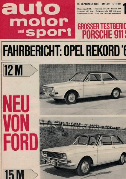 Auto Motor und Sport 1966 Heft 19-17.09.1966