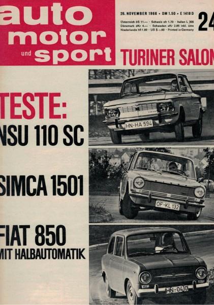 Auto Motor und Sport 1966 Heft 24-26.11.1966