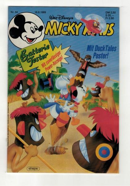 Micky Maus 1989 Nr. 34 / 16.08.1989