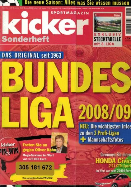 Kicker Sonderheft Bundesliga 2008/09