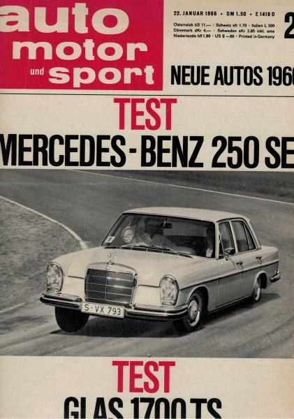 Auto Motor und Sport 1966 Heft 02-22.01.1966