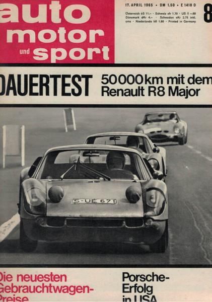 Auto Motor und Sport 1965 Heft 08-17.04.1965