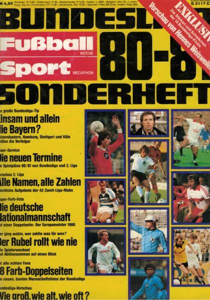 Fußball-Woche - Bundesliga-Sonderheft 80-81