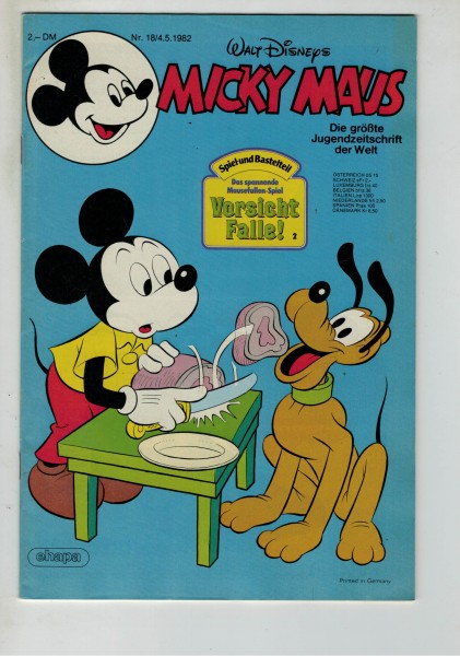 Micky Maus 1982 Nr. 18 / 04.05.1982