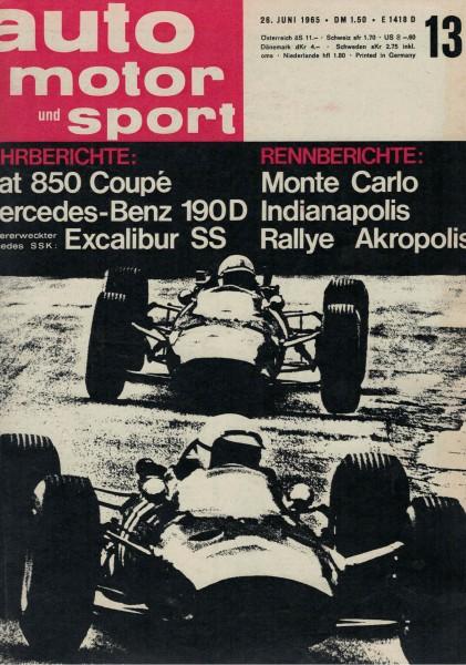 Auto Motor und Sport 1965 Heft 13-26.06.1965
