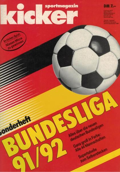 Kicker Sonderheft Bundesliga 1991/92