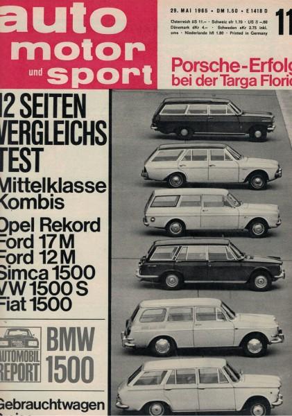 Auto Motor und Sport 1965 Heft 11-29.05.1965