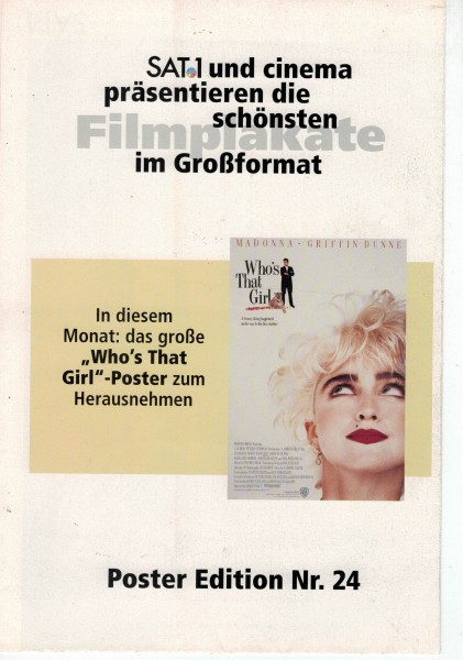 Cinema Poster Edition Nr. 24 - Who´s That Girl