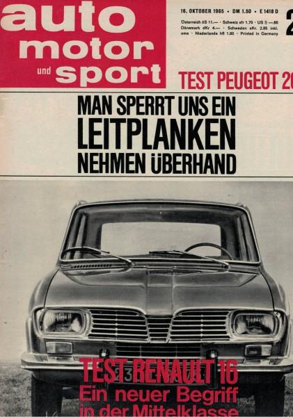 Auto Motor und Sport 1965 Heft 21-16.10.1965