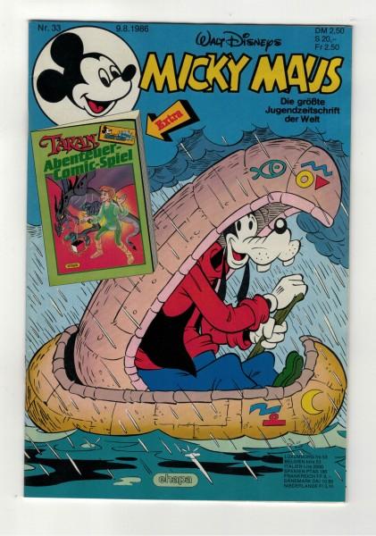 Micky Maus 1986 Nr. 33 / 09.08.1986