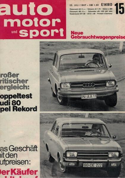 Auto Motor und Sport 1967 Heft 15-22.07.1967