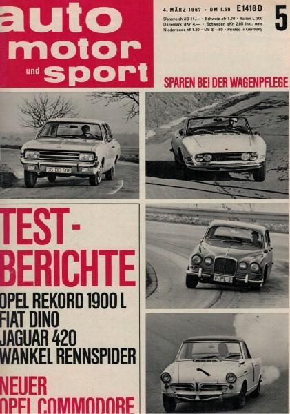 Auto Motor und Sport 1967 Heft 05-04.03.1967
