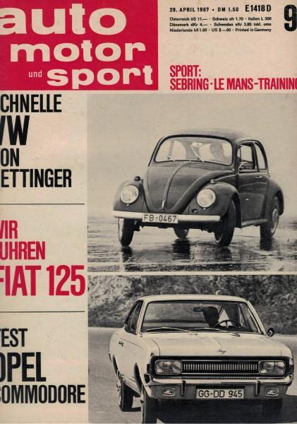 Auto Motor und Sport 1967 Heft 09-29.04.1967