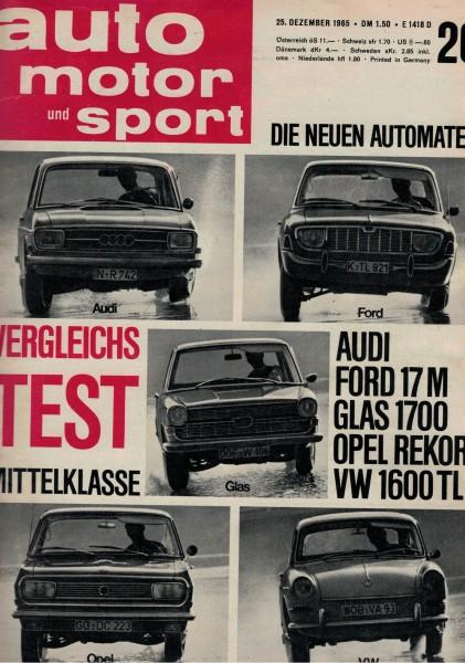 Auto Motor und Sport 1965 Heft 26-25.12.1965