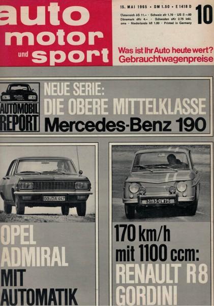 Auto Motor und Sport 1965 Heft 10-15.05.1965