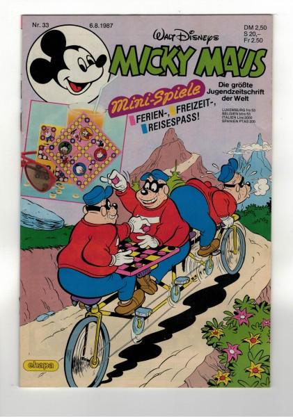 Micky Maus 1987 Nr. 33 / 06.08.1987