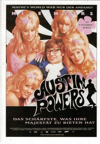 """Cinema Filmkarte """"Austin Powers - Das schärfste, was Ihre Majestät zu bieten hat"""""""