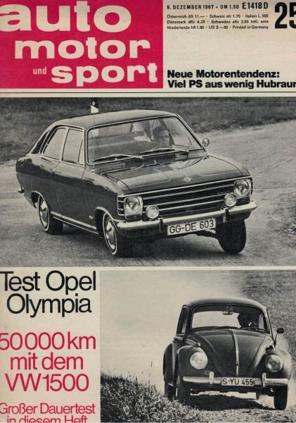 Auto Motor und Sport 1967 Heft 25-09.12.1967